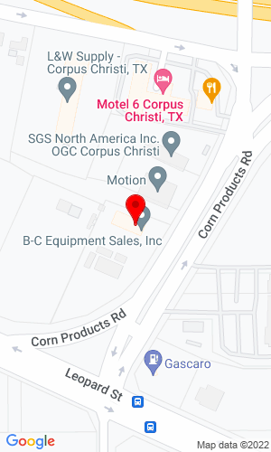 Google Map of B-C Equipment Sales, Inc. 809 Corn Product Road, Corpus Christie, TX, 78409